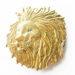 Gürtelschnalle - Lion Head Gold