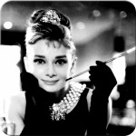 Metall-Untersetzer-SET 5x - Audrey Hepburn - Holly Golightly