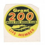 Hot Rod Aufkleber - Grant 200