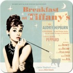 Metall-Untersetzer-SET 5x - Breakfast At Tiffany's Blue