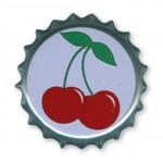 Button - Bottle Caps - Cherries