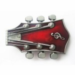 Gürtelschnalle - Guitar Red